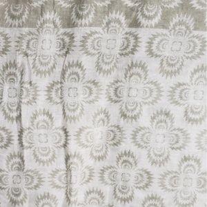 Quatrefoil Printed Scarf, 100% Cotton Scarf/Shawl